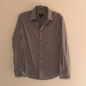 H&M mens button down shirt slim fit
